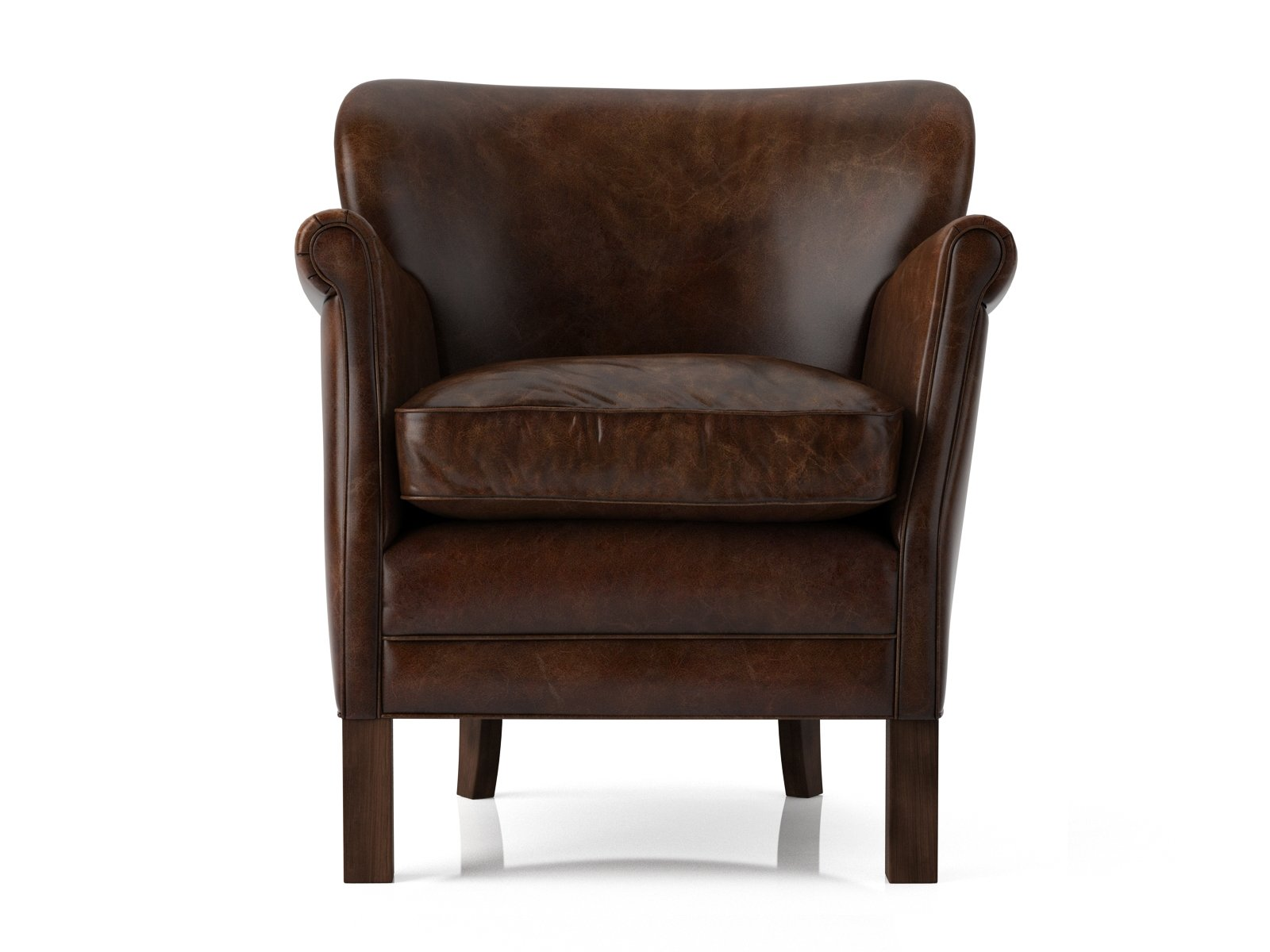 Professor's Leather Chair 3d model | Restoration Hardware