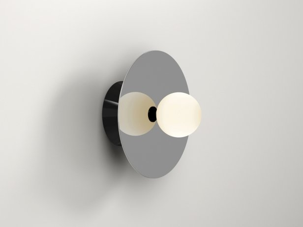 Disc and Sphere Wall Lamp 1