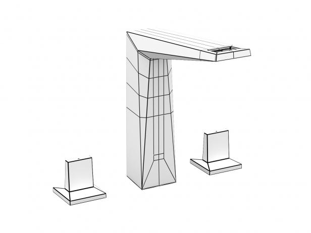 Cube Wall-hung Basin 100 Set 19