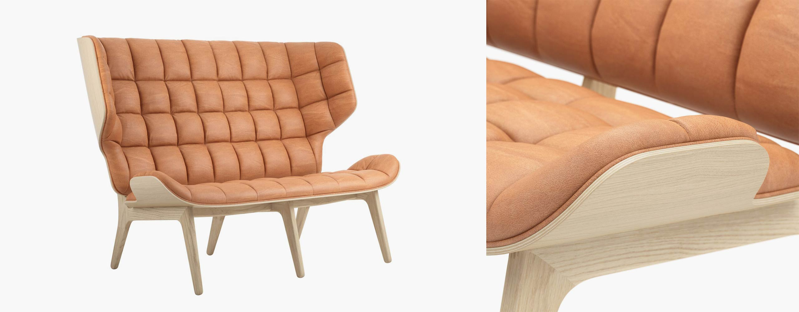 Close-up and full view at NORR11's Mammoth sofa - CGI and 3d model by Design Connected