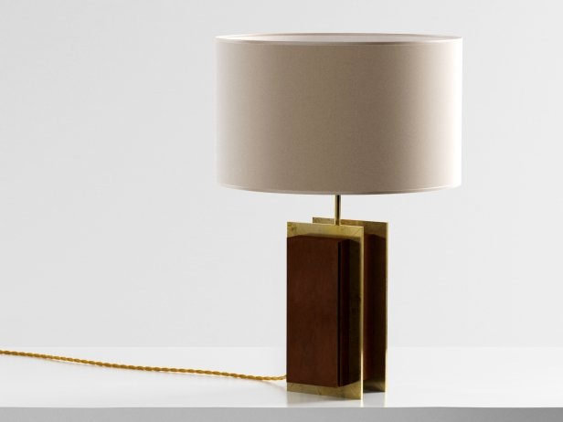 Brass Strapped Table Lamp 1