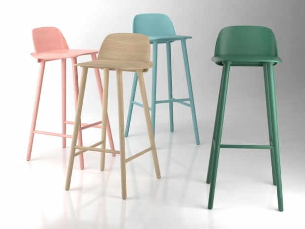 Nerd Bar Stool 3d Model Muuto