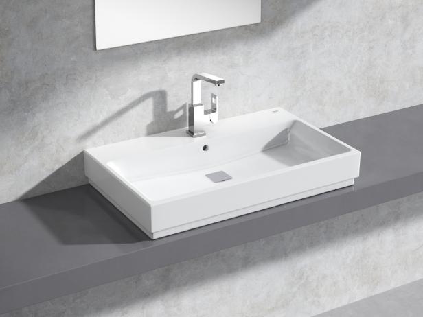 Cube Countertop Basin 80 Set 1