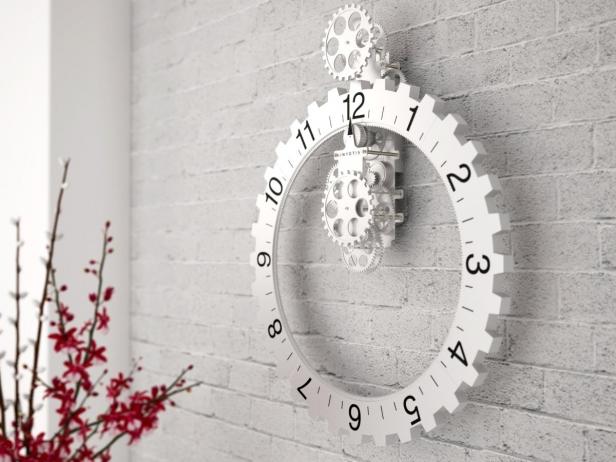 Big hour wheel clock 2