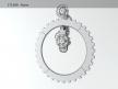 Big hour wheel clock 8