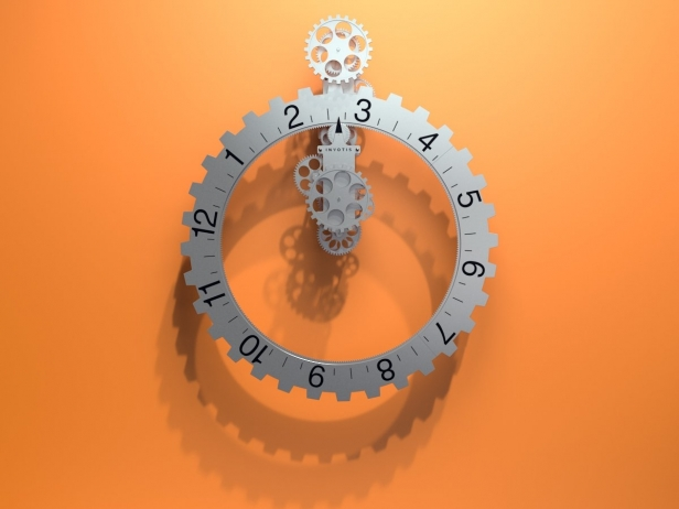 Big hour wheel clock 5