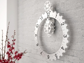Big hour wheel clock