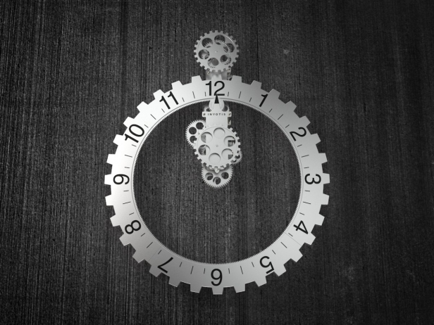 Big hour wheel clock 1