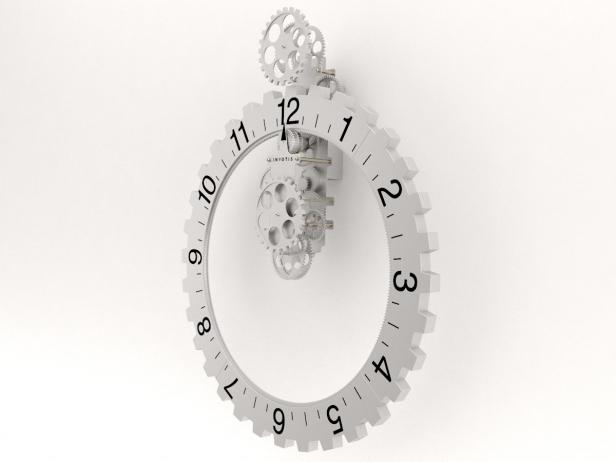 Big hour wheel clock 6
