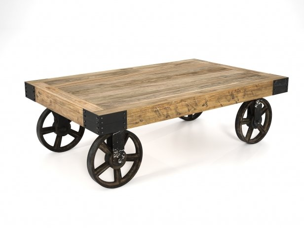 Industrial Cart Coffee Table 1