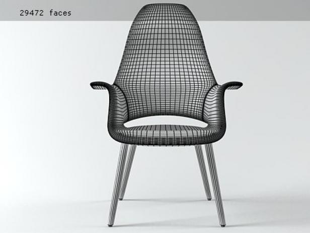 Organic highback 3d modell vitra for Sessel 3d dwg