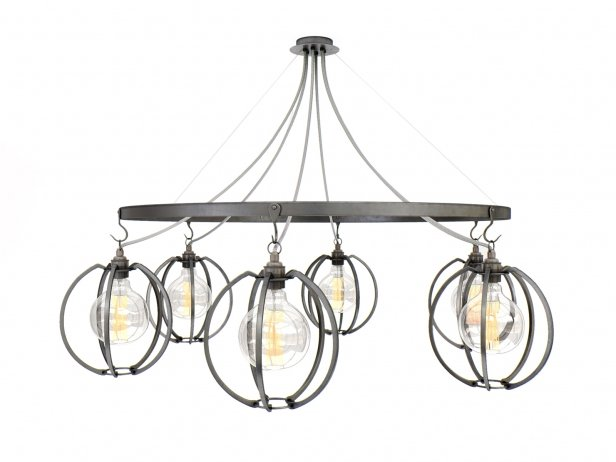 Farrier's Cage Six Circle Globe Chandelier 1