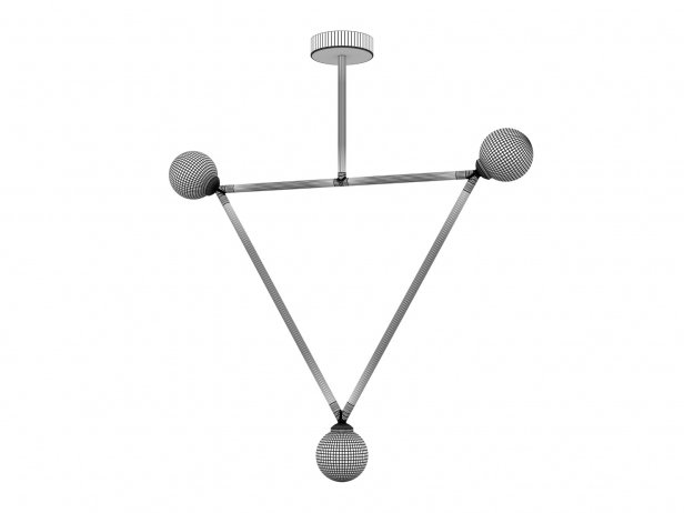 Triangle 1 Globe Pendant Lamp 2