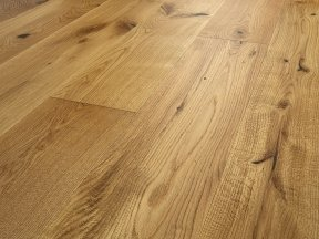 Natural Brushed Oak Flooring with Character