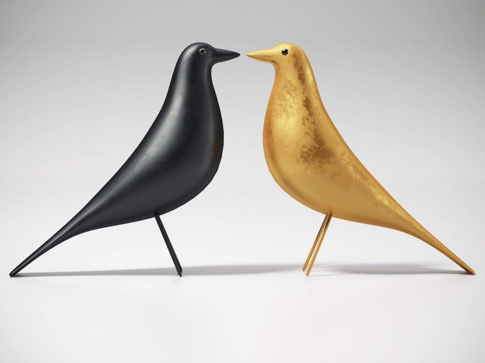 eames house bird 3d model vitra. Black Bedroom Furniture Sets. Home Design Ideas