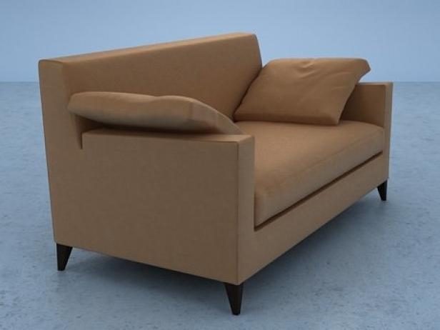 citta small settee 3d model ligne roset. Black Bedroom Furniture Sets. Home Design Ideas
