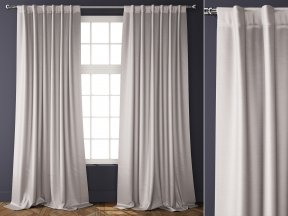 Cotton Luster Velvet Curtains 1