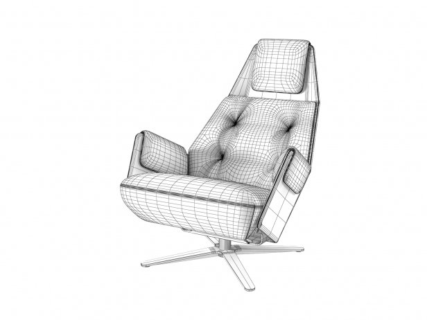1717 Mesh 805 Armchair and 750 Footstool 6