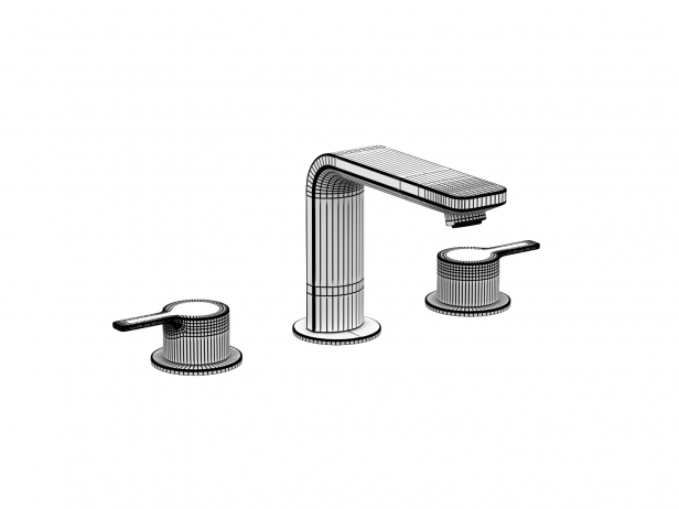 Cube Wall-hung Basin 80 Set 15