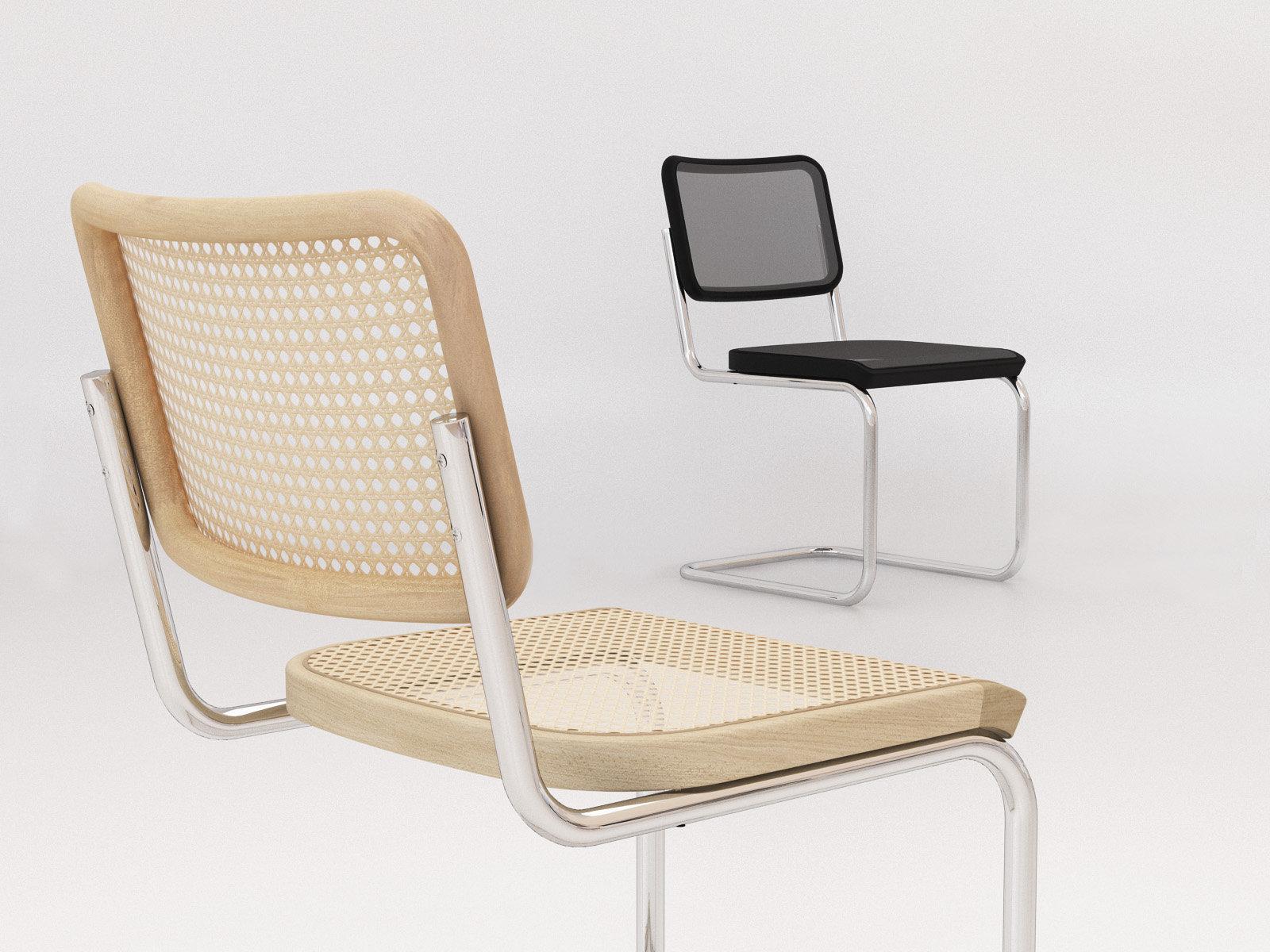 s 32 3d model thonet. Black Bedroom Furniture Sets. Home Design Ideas