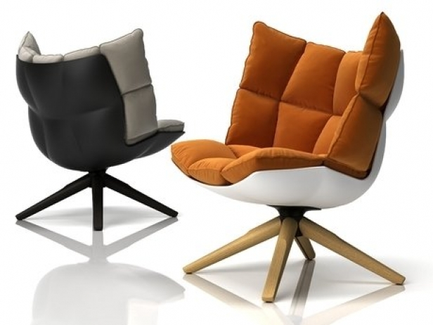 Husk armchair 3d model b b italia - Husk chair replica ...