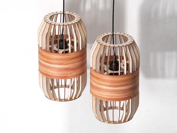 Lath Pendant Lamp 3