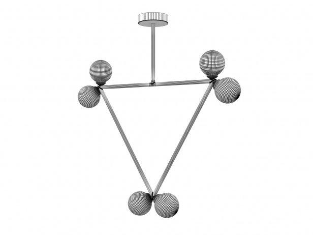 Triangle 2 Globe Pendant Lamp 2