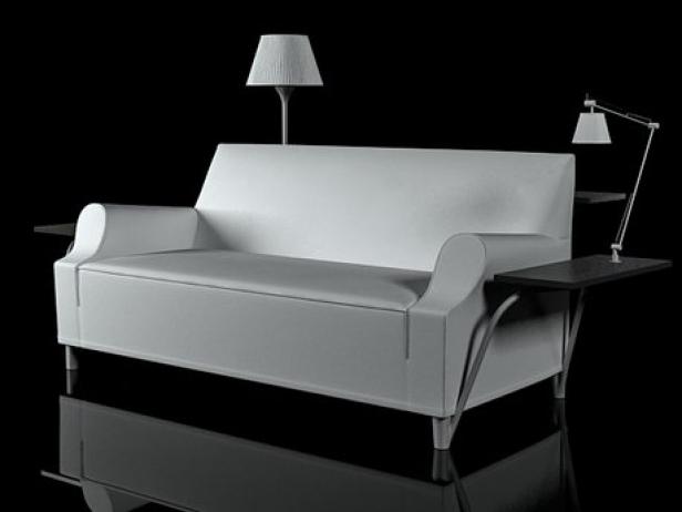 L W S Lazy Working Sofa 3d Model Cassina Italy