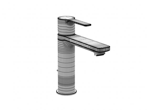 Cube Wall-hung Basin 45 Set 12