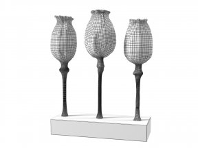 Poppy Pod Sculpture Trio Gold