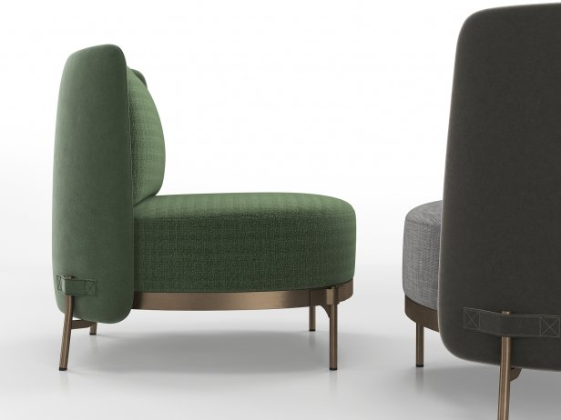 Tape Armchair without Armrests 2
