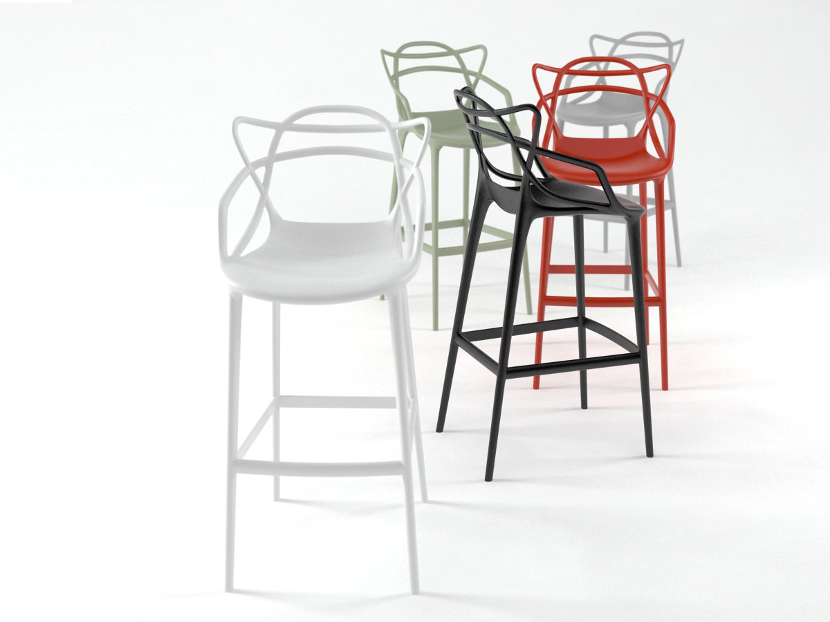 masters stool 3d model kartell. Black Bedroom Furniture Sets. Home Design Ideas