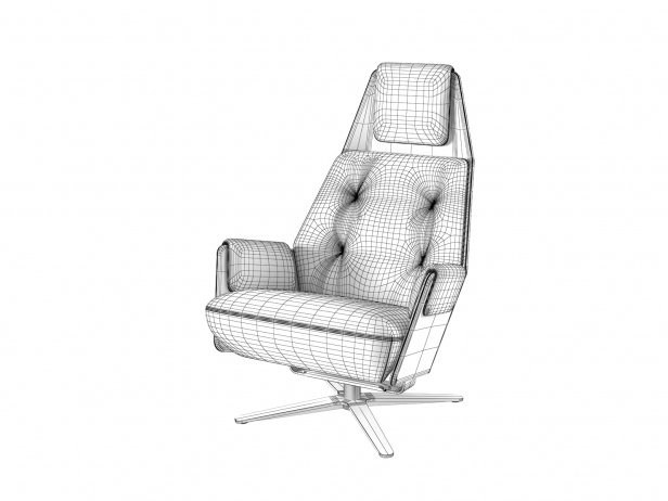 1717 Mesh 805 Armchair and 750 Footstool 5