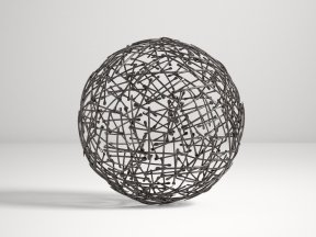 CRATE & BARREL Iron Decorative Metal Ball